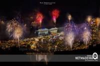 Fogo de artificio na passagem de ano