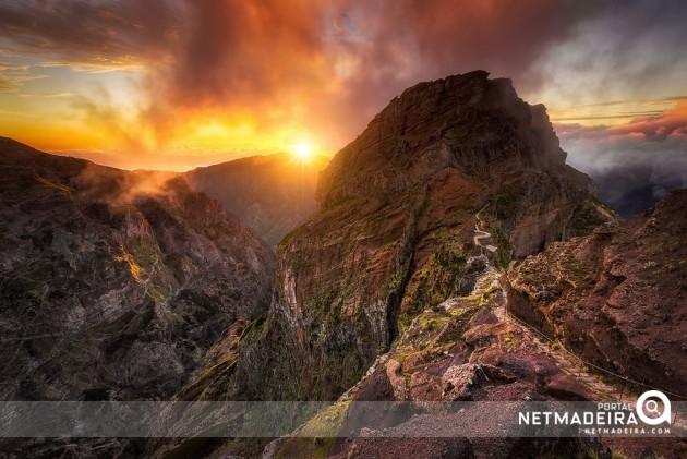Arieiro e o seu pôr-do-sol