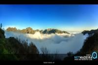 Mar de nuvens no Paul da Serra