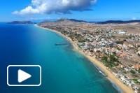 Uma vista aérea pela ilha do Porto Santo