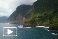 Vistas aéreas na ilha da Madeira