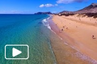 Porto Santo Beach vista aerea - 4K Ultra HD