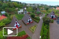 Ilha da Madeira vista aerea - Santana